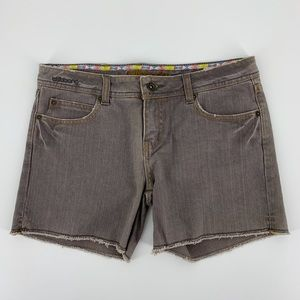 Billabong Gray Jean Shorts Low Rise Jr 7